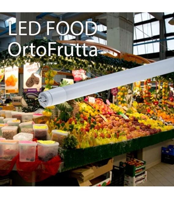TUBO LED IN VETRO 14W 90CM 360° T8 PER ALIMENTI VERDURA