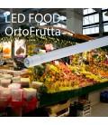 TUBO LED IN VETRO 18W 120CM 360° T8 PER ALIMENTI VERDURA