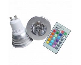 FARETTO LED 3W RGB + RADIOCOMANDO GU10
