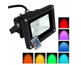 PROIETTORE LED 10W RGB +RADIOCOMANDO