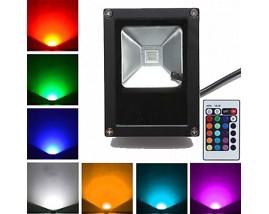 PROIETTORE LED 10W RGB SOTTILE +RADIOCOMANDO