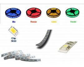 STRISCIA LED 5630-60LED/MT 5mt 12V IP44 NON RESINATO COLORATO