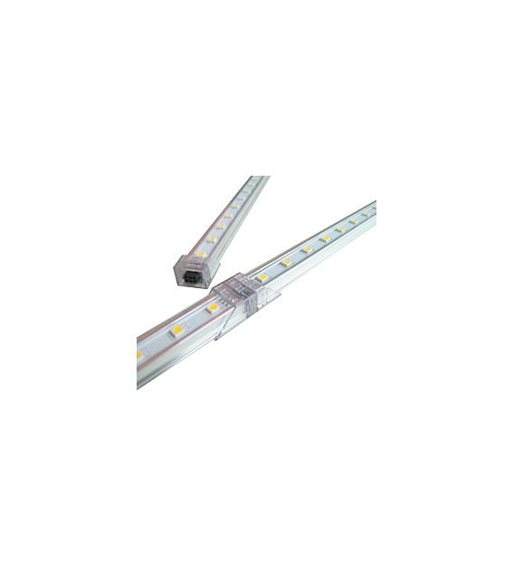 BARRA LED ALLUMINIO 72LED 1mt 12V CON COVER COLORATA