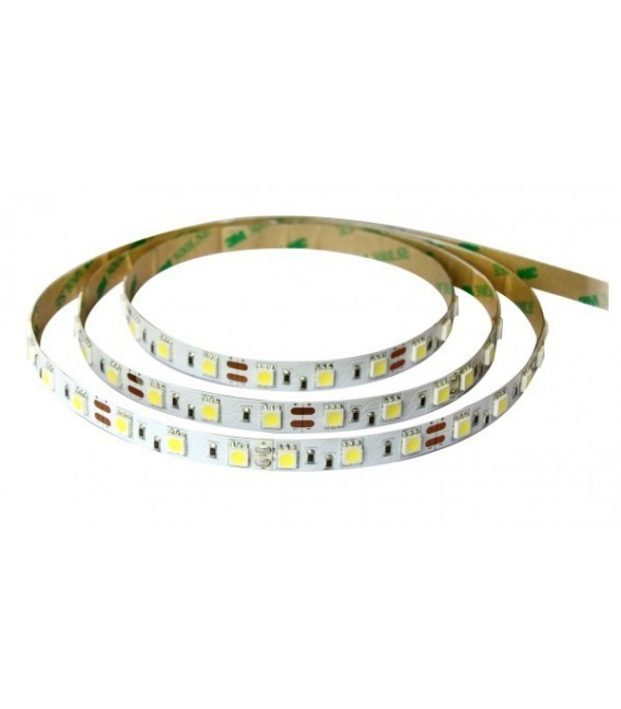 LED STRISCIA 5050-60LED/MT RGB-WHITE 5mt 12W IP65  (PU)
