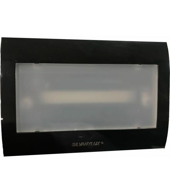 Segnapasso LED cassetta 503 con Lampada di EMERGENZA INTEGRATA - Luce Naturale COVER NERA