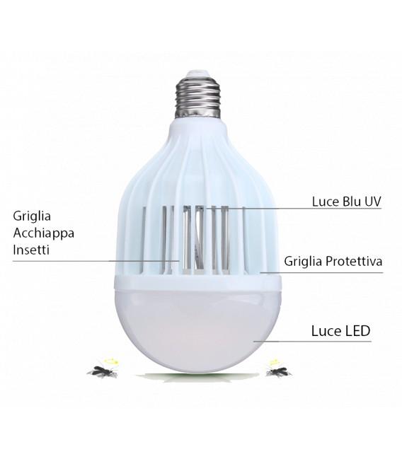 Lampadina LED 9W Zanzaled 2° Generazione 4 in 1 - 10W