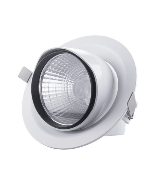 FARO LED DA INCASSO ROTABILE COB 30W